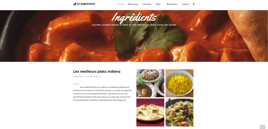Restaurant indien Le Rajustant